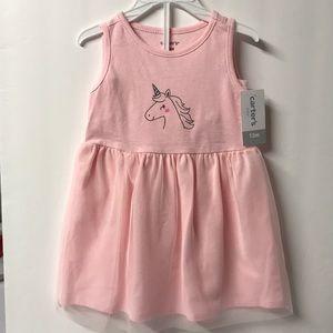 Unicorn Dress pink 2-piece dress set 12 month NWT